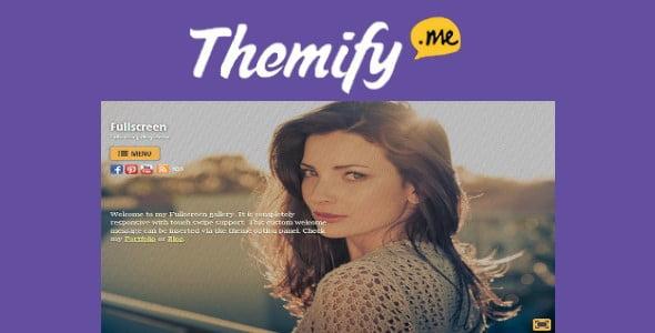 Themify Fullscreen WordPress Theme